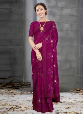 Stupendous Embroidered Silk Designer Traditional Saree