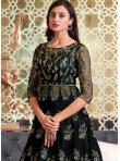 Stylish Embroidered Net Long Choli Lehenga - 3