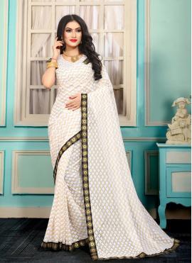 Suave Lace Jacquard Bollywood Saree