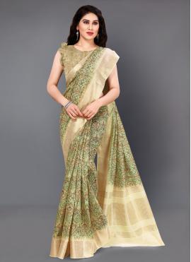 Suave Silk Multi Colour Digital Print Casual Saree