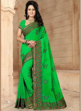 Subtle Green Trendy Saree