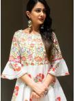 Subtle Off White Printed Cotton Designer Lehenga Choli - 2