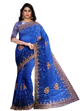 Sumptuous Fancy Fancy Fabric Blue Designer Saree