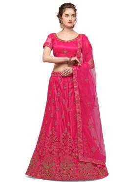 Sumptuous Pink Net Lehenga Choli