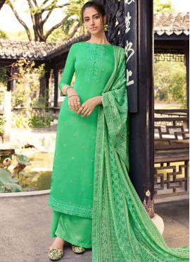 Sumptuous Silk Ceremonial Designer Palazzo Suit