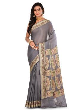 Sunshine Banarasi Silk Weaving Trendy Saree