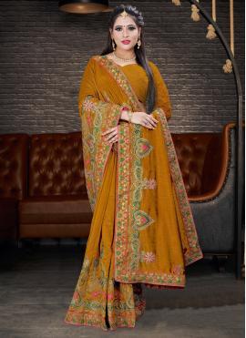 Sunshine Silk Embroidered Silk Saree