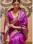 Superb Purple Kanjivaram Silk Traditional Saree - 1