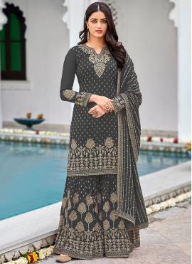 Superb Sequins Faux Georgette Designer Palazzo Salwar Kameez
