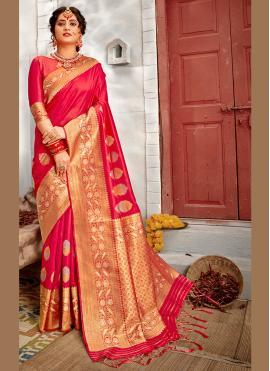 Superb Weaving Banarasi Silk Traditional Designer Saree