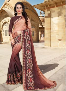 Superlative Embroidered Classic Saree