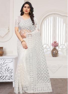 Superlative Net Traditional Designer Saree