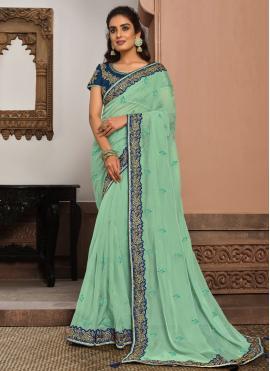 Surpassing Designer Traditional Saree For Sangeet