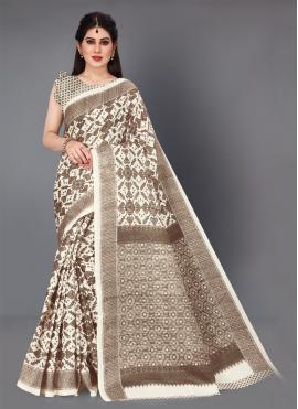 Surpassing Printed Khadi Silk Printed Saree