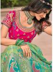 Swanky Banarasi Silk Wedding Bollywood Lehenga Choli - 1