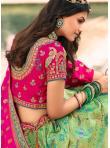 Swanky Banarasi Silk Wedding Bollywood Lehenga Choli - 2