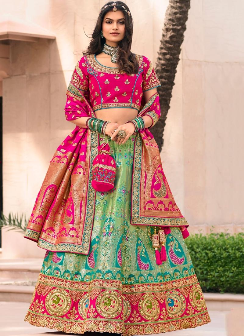 Swanky Banarasi Silk Wedding Bollywood Lehenga Choli