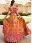 Swanky Orange and Pink A Line Lehenga Choli - 1