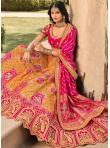Swanky Orange and Pink A Line Lehenga Choli - 2