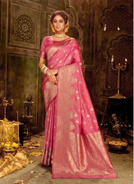 Tantalizing Weaving Banarasi Silk Contemporary Saree