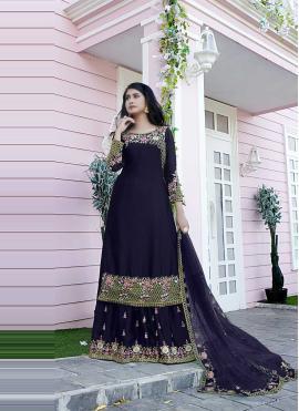 Tempting Blue Embroidered Designer Pakistani Salwar Suit