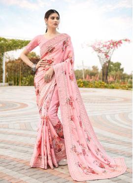 Tempting Pink Wedding Classic Saree