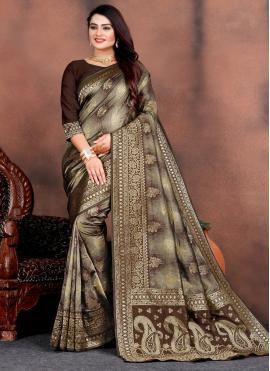 Tempting Weaving Silk Traditional Saree
