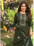 Thrilling Handwork Cotton Designer Palazzo Salwar Kameez - 2