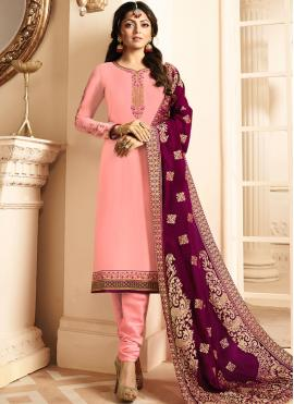 Topnotch Resham Churidar Designer Suit