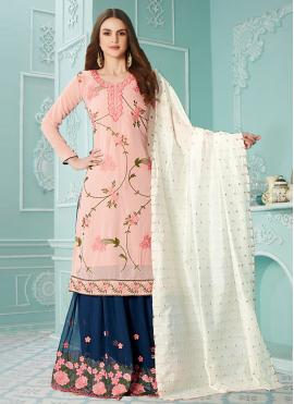 Topnotch Resham Designer Palazzo Salwar Suit