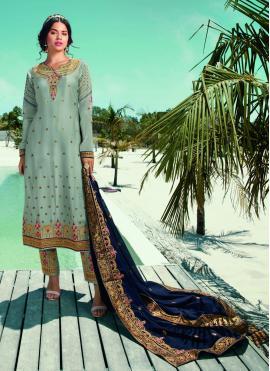 Trendy Blue Designer Pakistani Suit