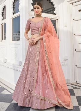 Trendy Silk Lace Lehenga Choli