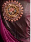 Trendy Silk Wine Readymade Anarkali Suit - 2
