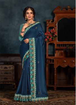 Turquoise Festival Silk Classic Saree