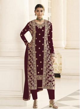 Unique Embroidered Ceremonial Designer Pakistani Suit