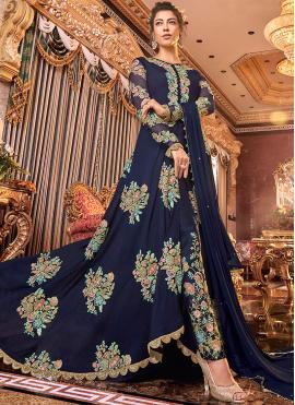 Urbane Satin Silk Reception Anarkali Suit