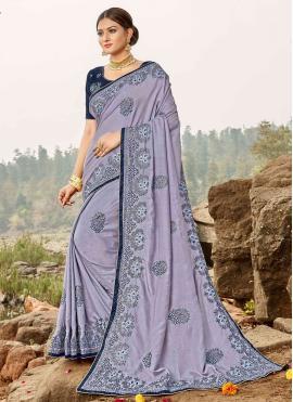 Versatile Embroidered Ceremonial Trendy Saree