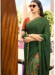 Versatile Printed Sea Green Bollywood Saree - 1