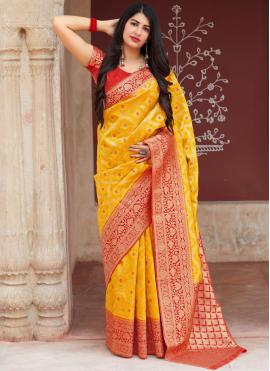 Vibrant Art Silk Designer Traditional Saree