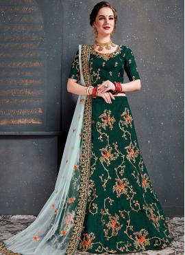 Vibrant Green Designer Lehenga Choli