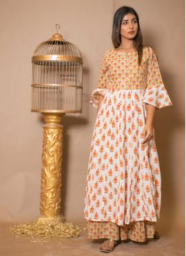 Vibrant Off White Salwar Suit