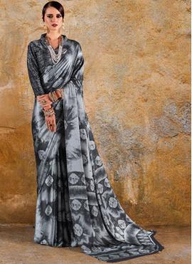 Vivacious Multi Colour Printed Saree