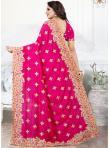 Vivacious Stone Work Silk Pink Traditional Saree - 2