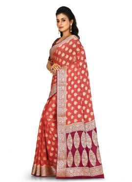 Vivid Banarasi Silk Wedding Contemporary Saree