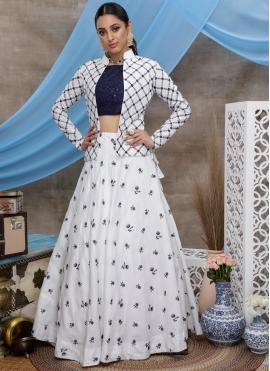 Vivid Thread Cotton Designer Lehenga Choli