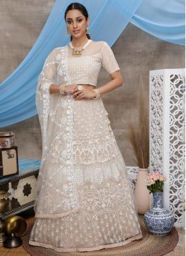 Voguish Beige Trendy Designer Lehenga Choli