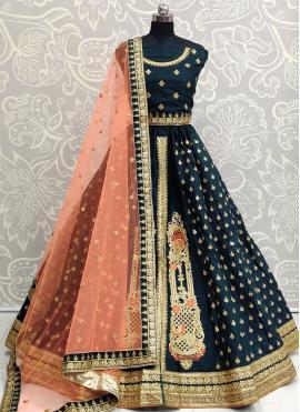 Voguish Silk Sequins A Line Lehenga Choli
