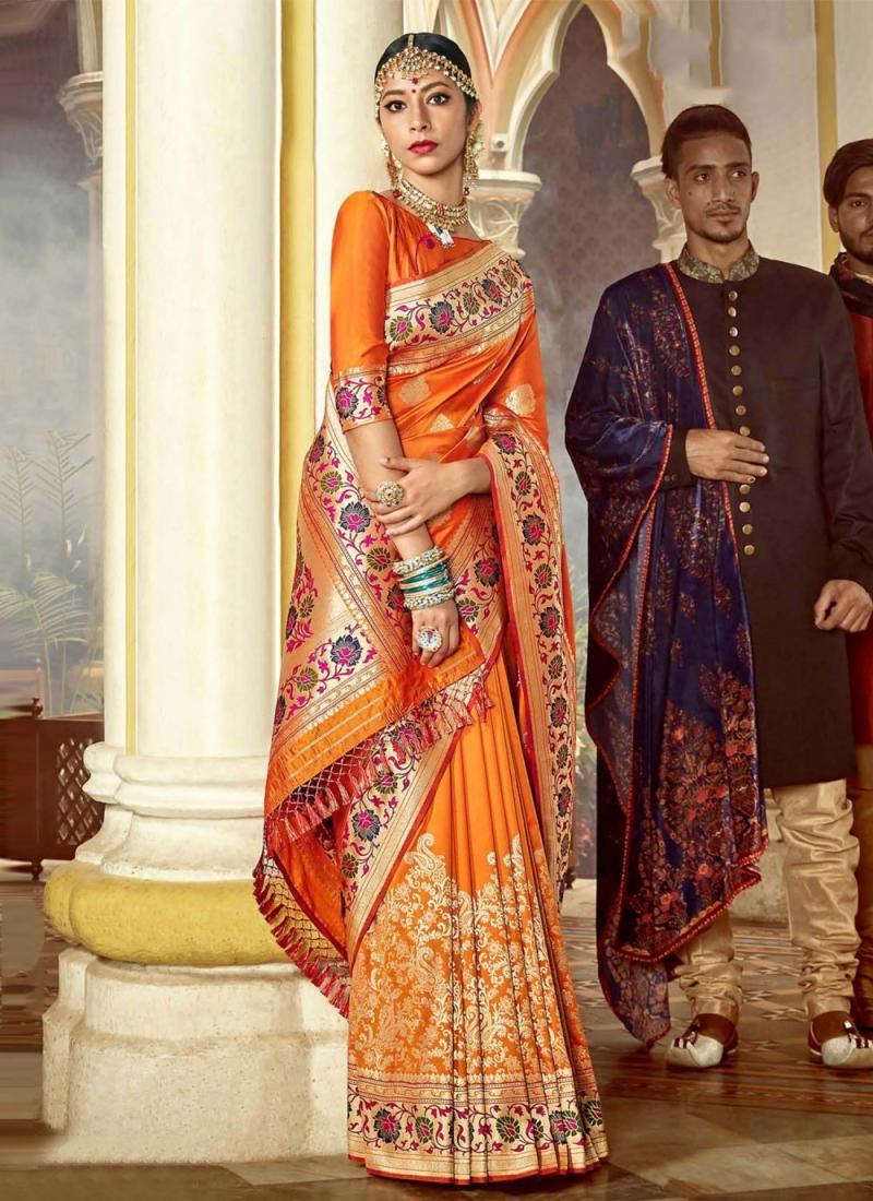 Voluptuous Weaving Festival Traditional Designer Saree