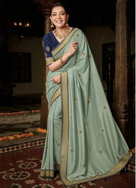 Weaving Silk Classic Saree in Aqua Blue