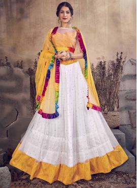 White Zari Designer Lehenga Choli